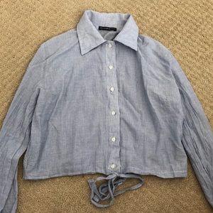 Brandy Melville Button-Down Dress Shirt